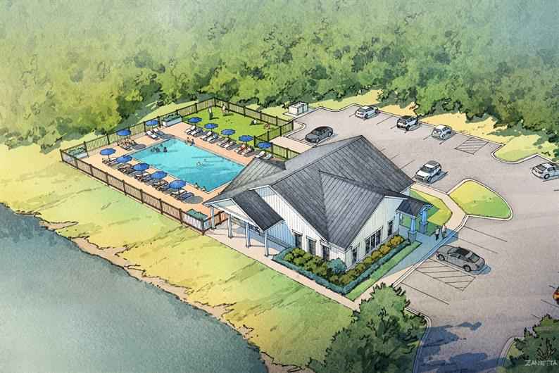 Future Community Pool and Clubhouse