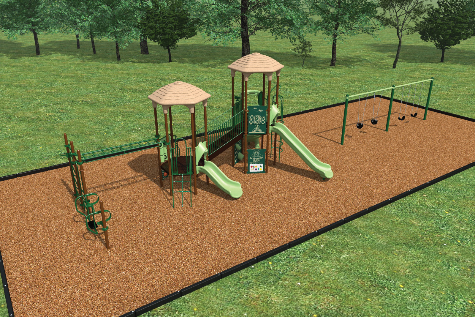 The kids will enjoy their time at a favorite community amenity–the tot-lot!