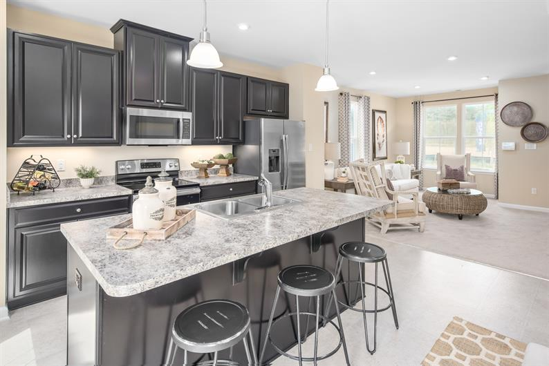 ENJOY YOUR SPACIOUS KITCHEN, WITH ISLAND INCLUDED!