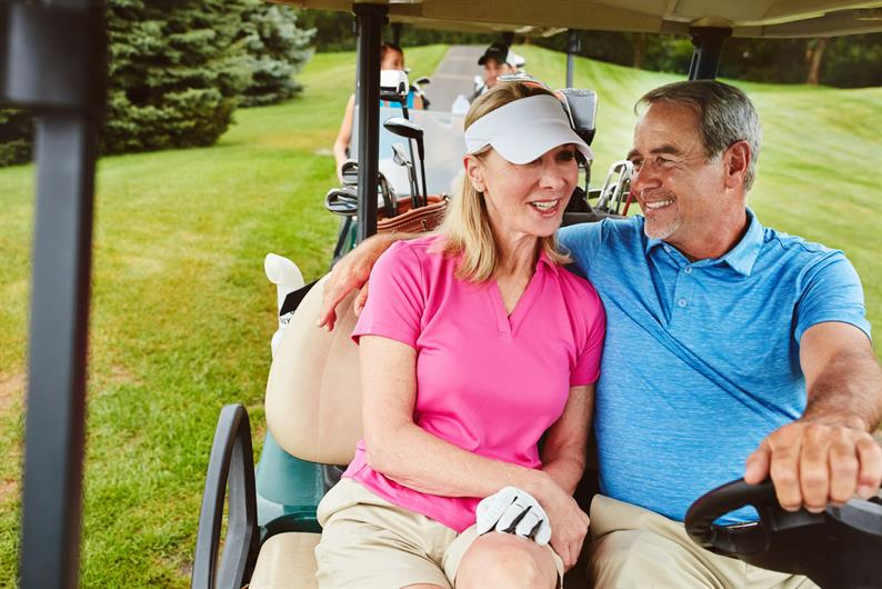 LOW MAINTENANCE LIVING ALLOWS MORE TIME TO HIT THE LINKS