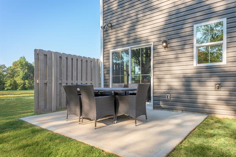 Host a backyard BBQ on your private patio
