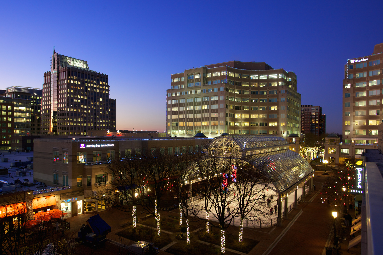 Enjoy high-end dining and shopping at the nearby Reston Town Center.