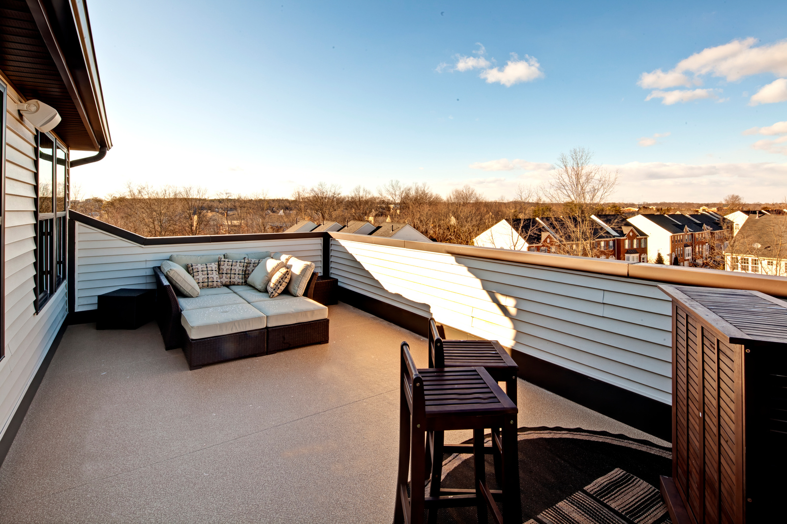 Enjoy the view from your rooftop deck at Westmoore!