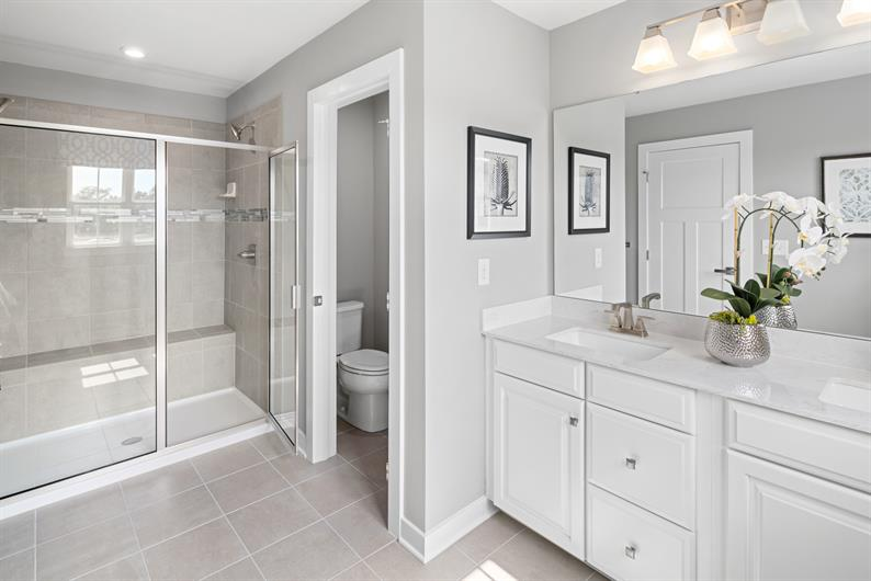 SPA WORTHY BATHROOM WITH DUAL VANITIES