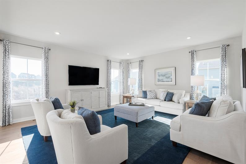 OPEN CONCEPT FLOORPLAN WITH LIVING SPACES THAT FLOW TOGETHER FOR EASY CONVERSATION