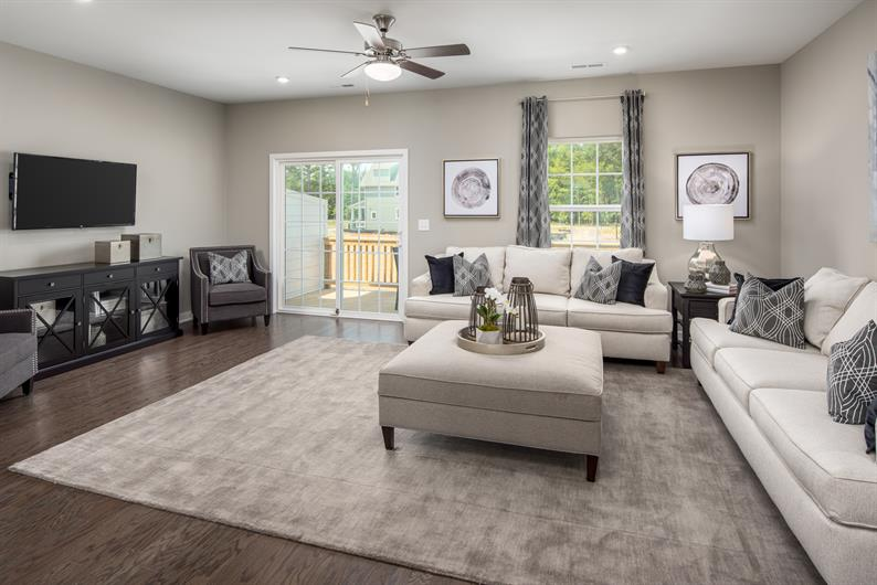 Spacious Great Room and Deck