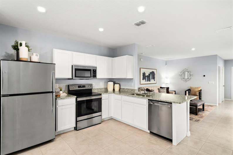 SPACIOUS KITCHENS WITH APPLIANCES INCLUDED