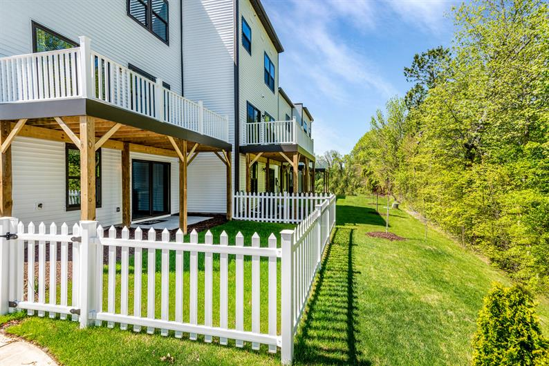 Imagine having your own fenced in backyard with 8x18 deck included!