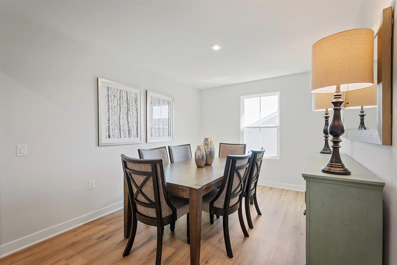 FLEXIBLE BEDROOMS CAN CREATE A FORMAL DINING OR HOBBY SPACE