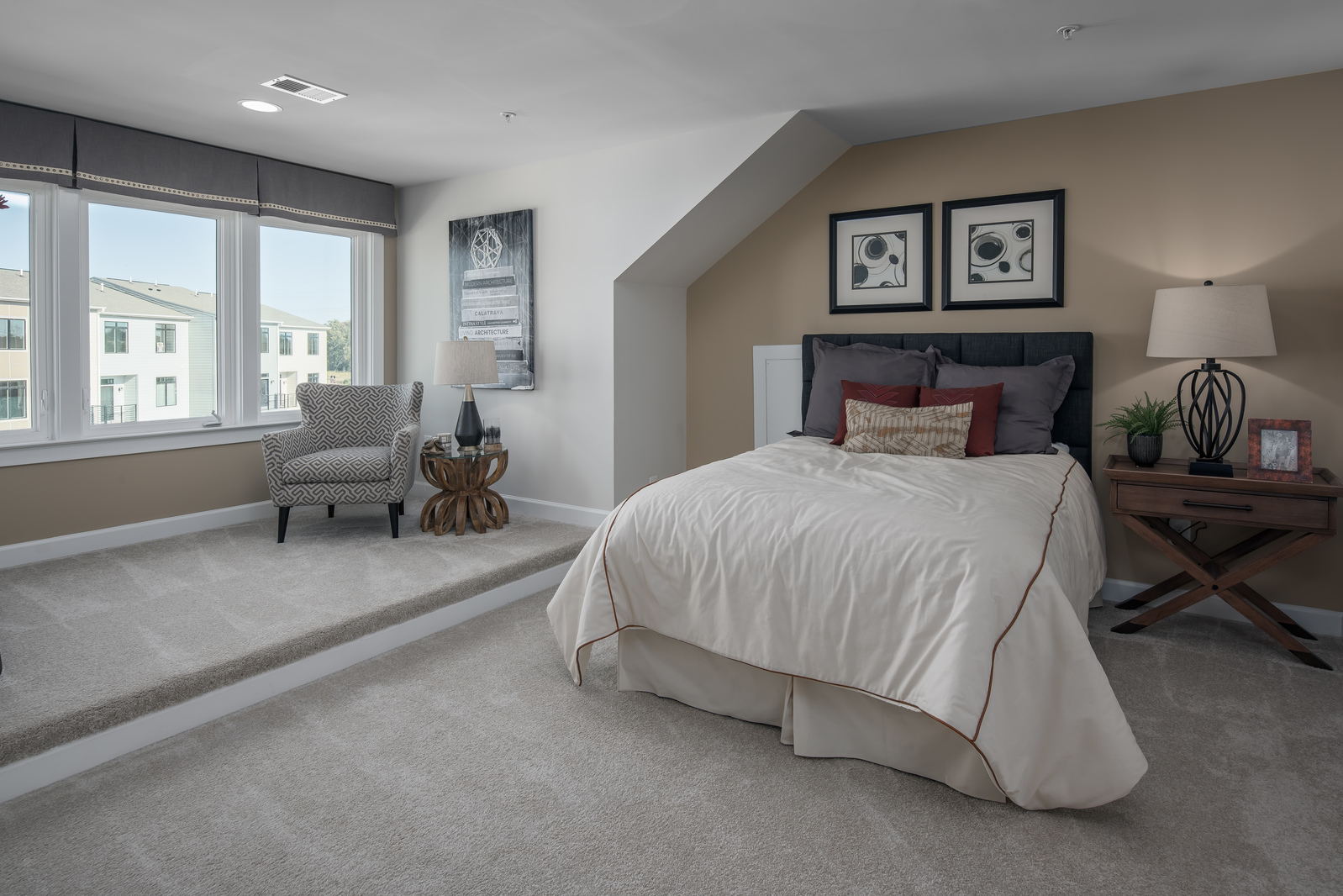 Our fourth level option gives you the flexibility for additional entertaining space and guest bedroom.