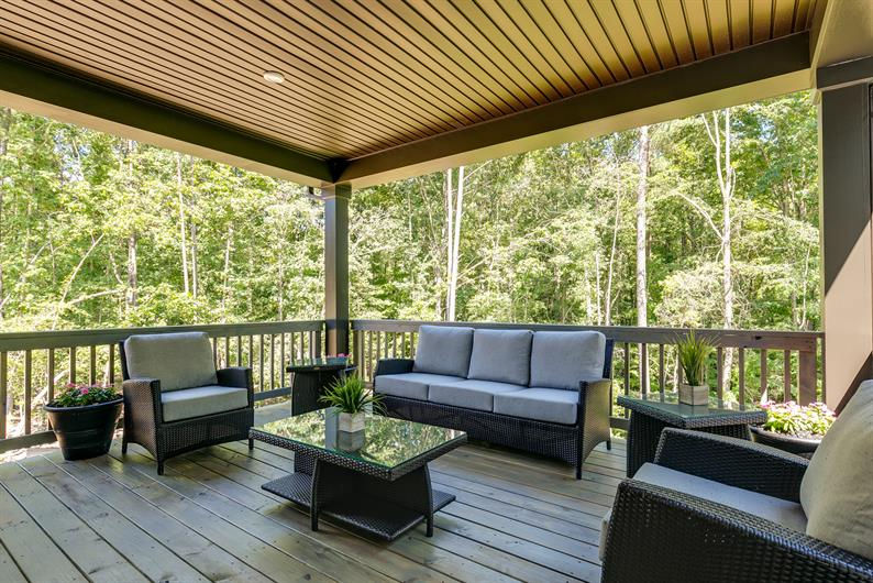 Enjoy the Outdoors from your Rear Covered Porch