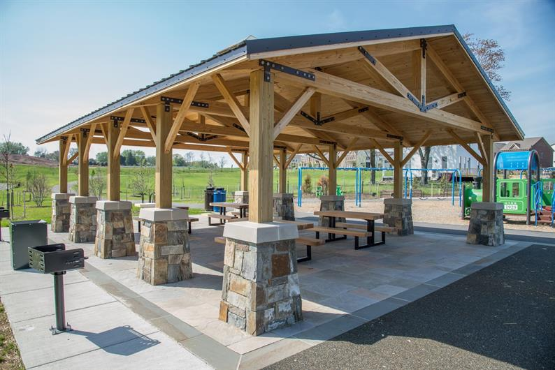 OUTDOOR PAVILION AND PLAYGROUND