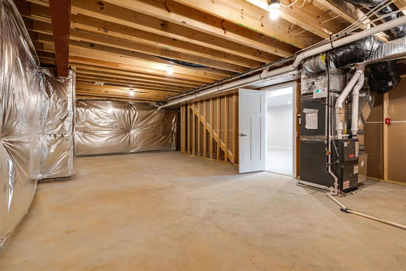 LOOKING FOR MORE SPACE? BUILD YOUR HOME ON AN UNFINISHED BASEMENT FOR ONLY $80/MONTH.
