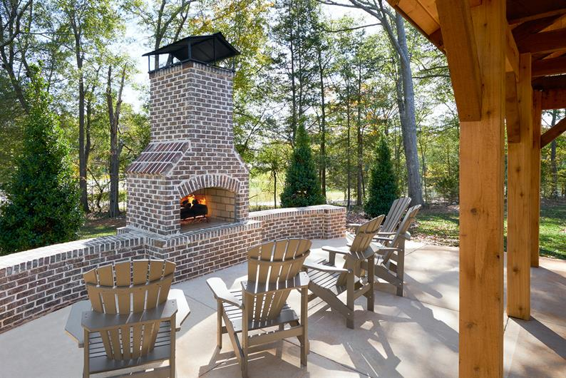 Butler Townes will have a fireplace and covered cabana!