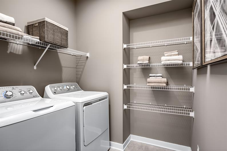 Conveniently located laundry room