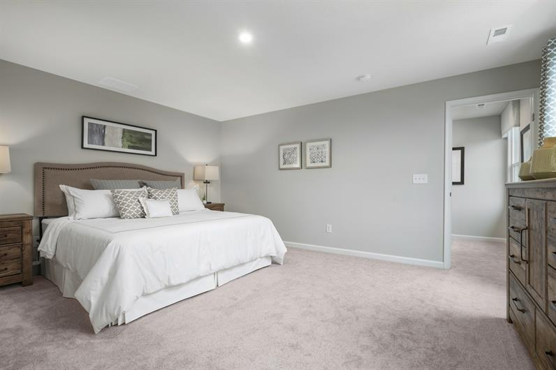 YOUR SPACIOUS OWNER'S SUITE IS PERFECT FOR RELAXING
