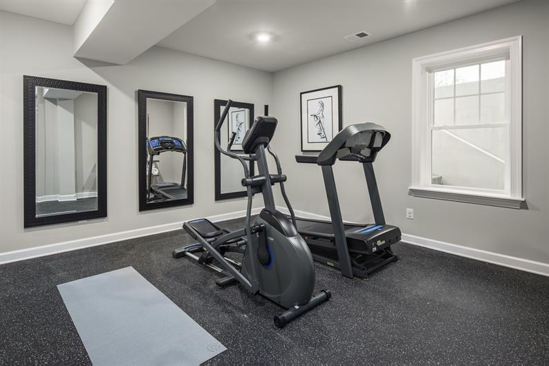 OPTIONS FOR HOME GYMS OR MEDIA ROOMS