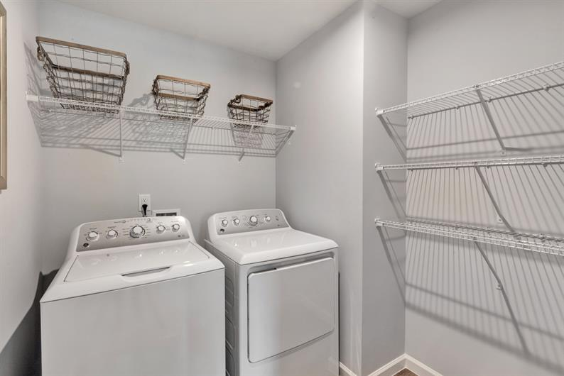 INCLUDED WASHER AND DRYER LOCATED ON THE BEDROOM LEVEL