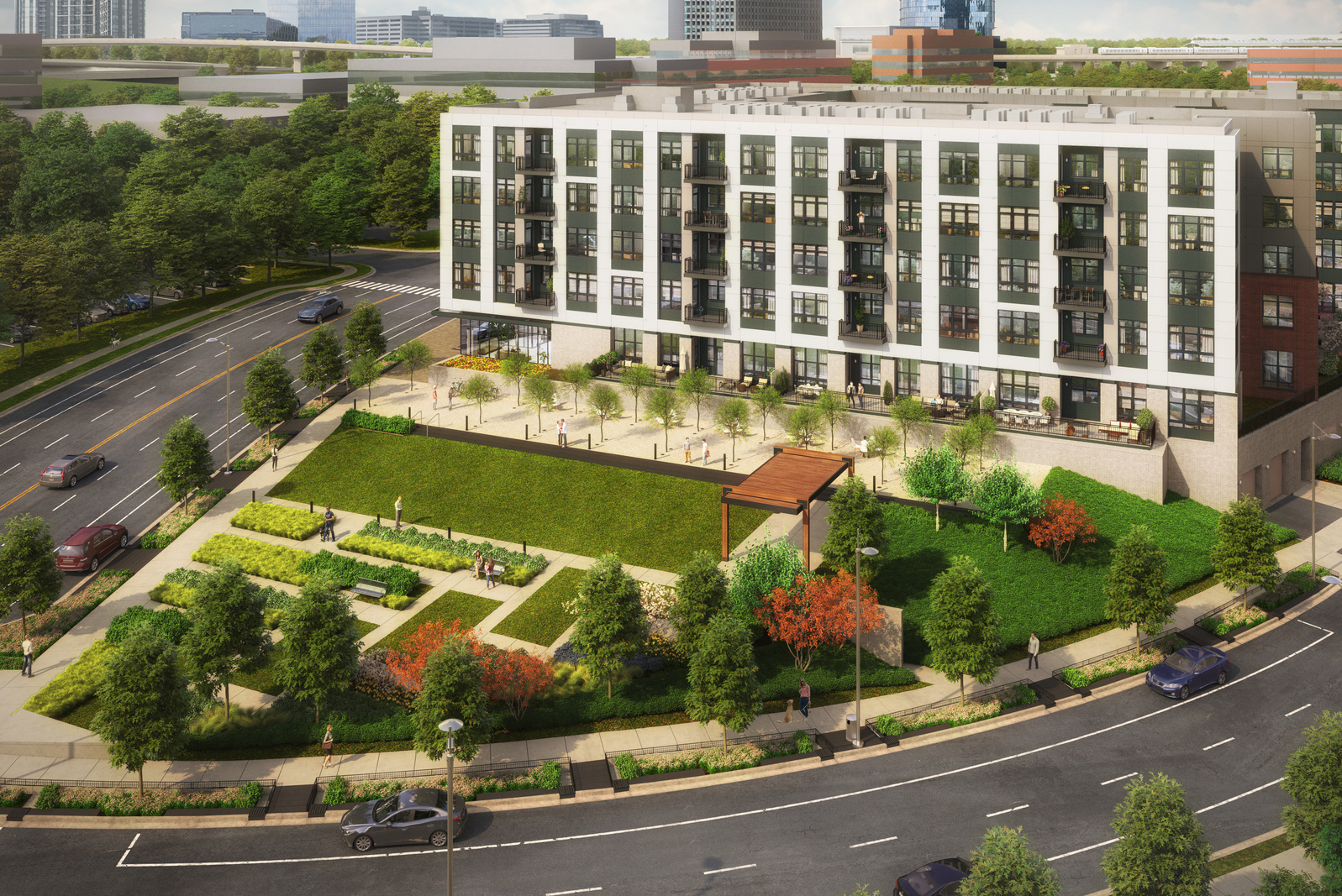The Bexley offers more green space and outdoor living than any other Tysons-area condo.