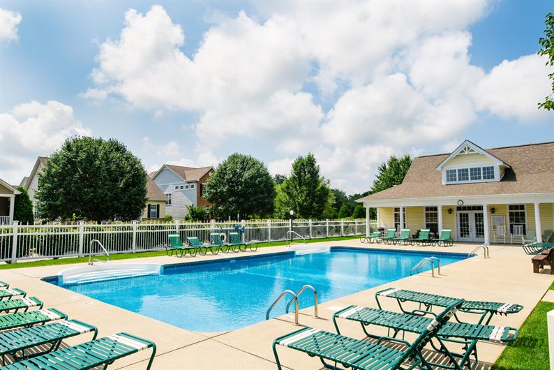 Heated pool, walking trails & community playground