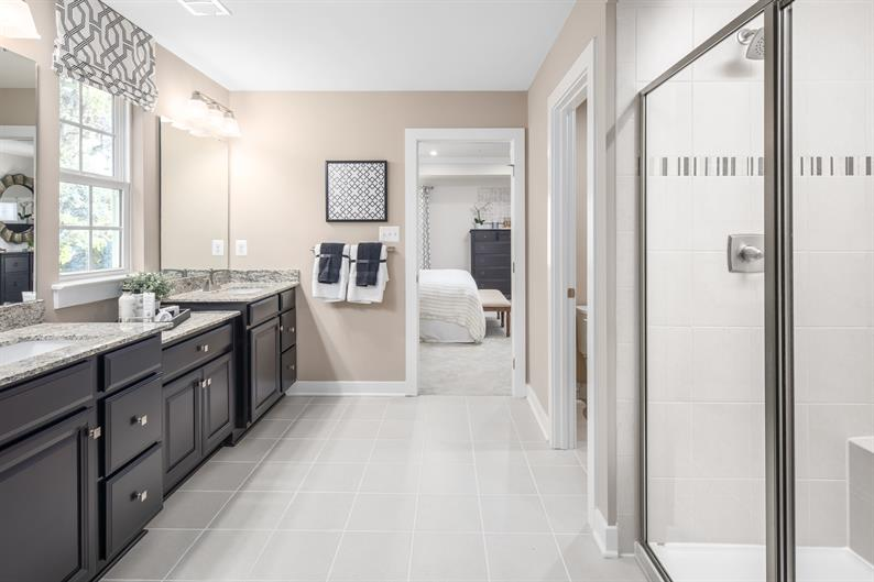spacious Bathrooms make it easy to get ready for the day