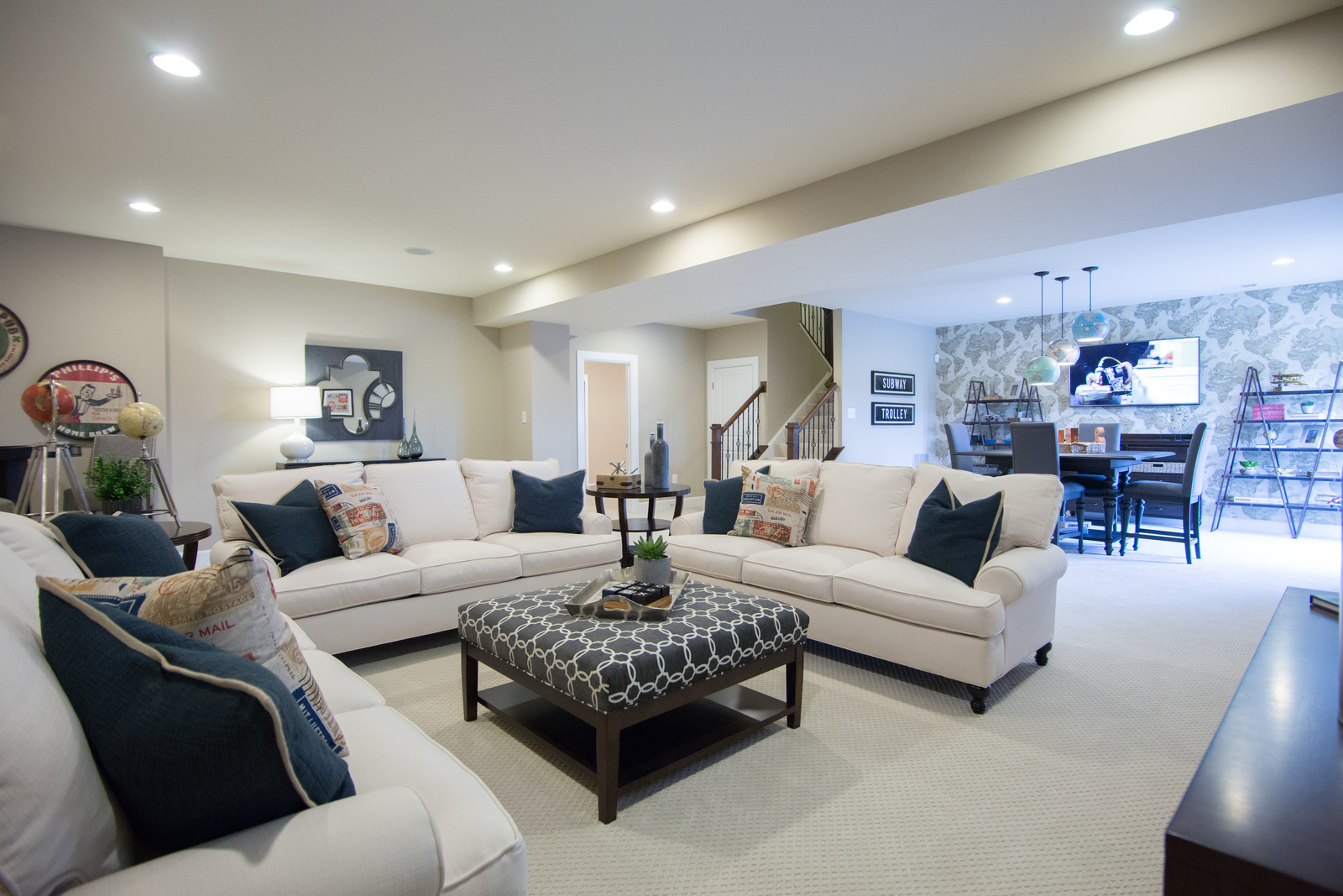 Finish your basement for additional space - create the entertainment room you've always dreamed of having