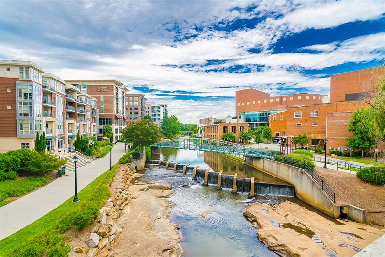 Downtown Greenville is just 15 minutes away