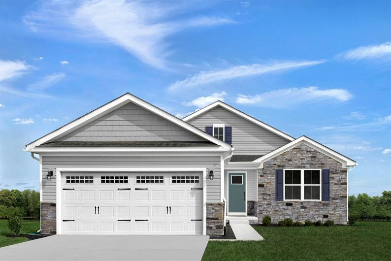 INCLUDED CRAFTSMAN STONE EXTERIORS WITH 2 CAR GARAGE AND FULL BASEMENT
