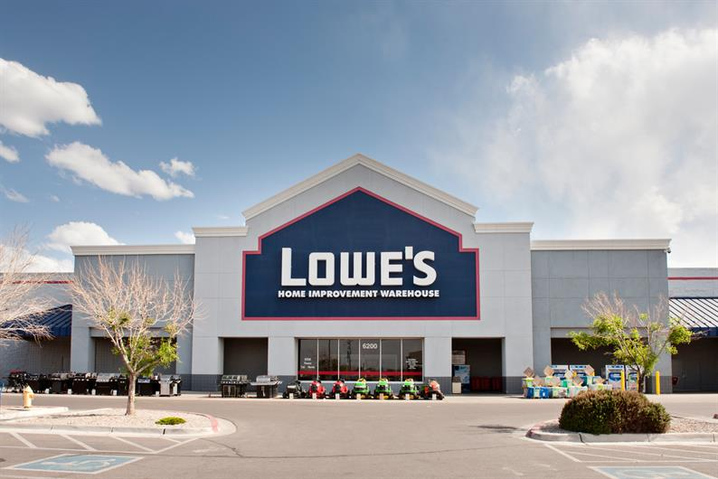 LOWES IS RIGHT DOWN THE STREET FOR HOME IMPROVEMENT SUPPLIES