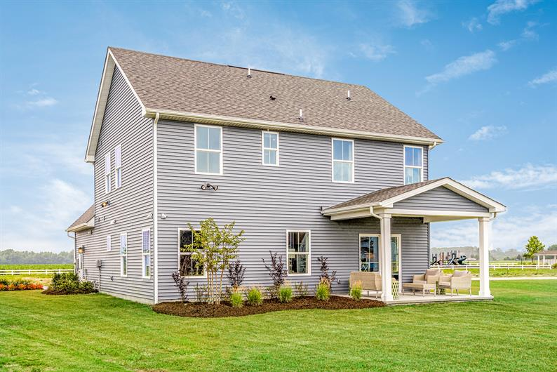 Covered porches are available