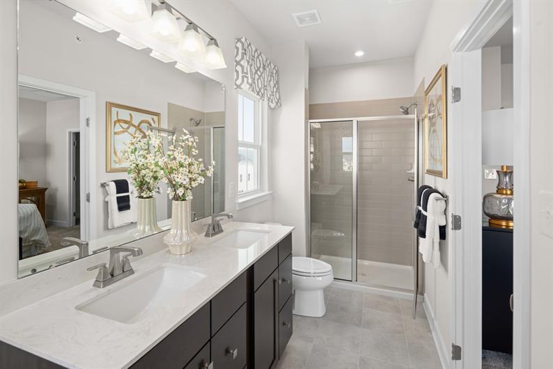 Owner's Bathroom with Dual Vanity