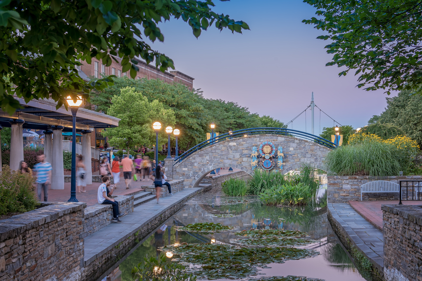 Step out to downtown Frederick for a stroll along Carroll Creek.