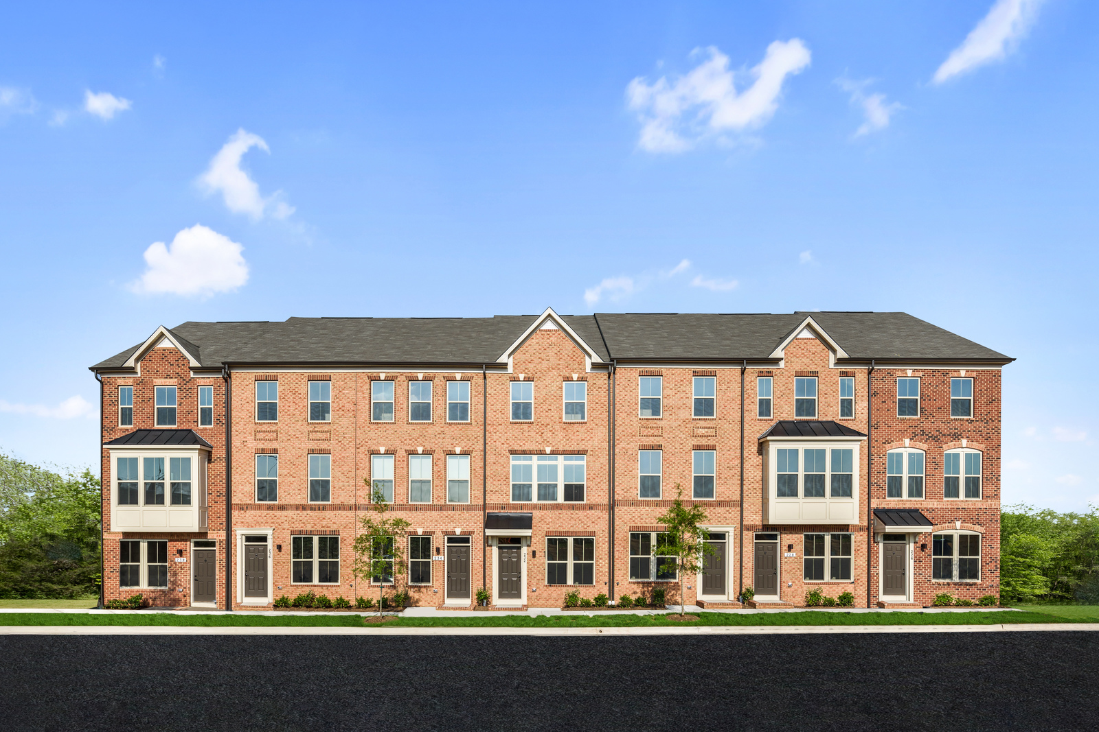 Incredible New Clarendon 4 Story Townhome Model For Sale At Oldham Download Free Architecture Designs Scobabritishbridgeorg