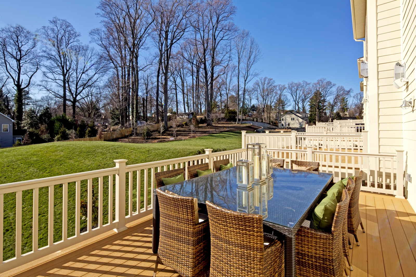 Visit today and learn about our Andrew Carnegie home with a deck overlooking open space.