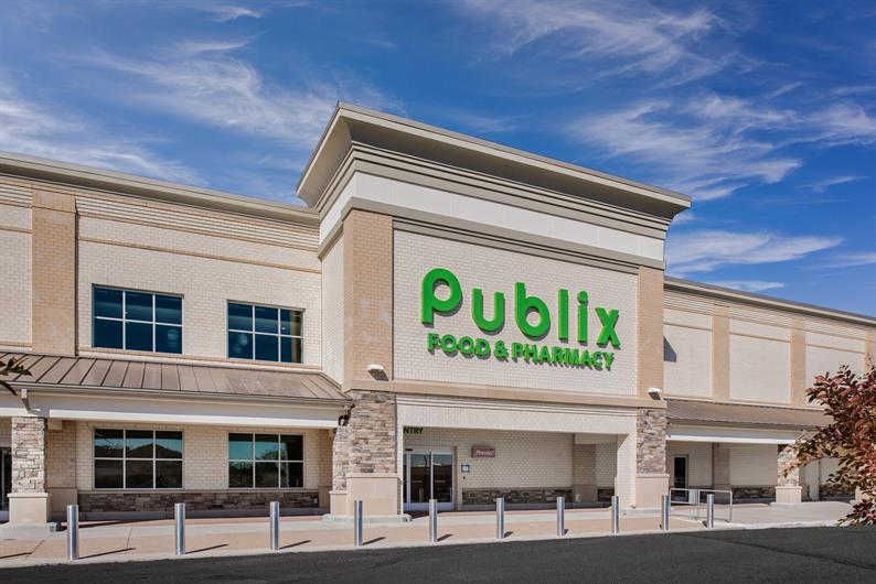 Grocery shopping is convenient with Publix located 1.5 miles away