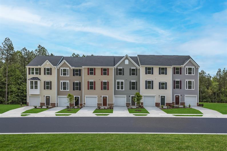 Townhomes with up to 4 bedrooms backing to trees also available in Courtney Creek