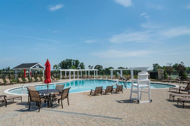 Exclusive 55+ resort-style outdoor pool
