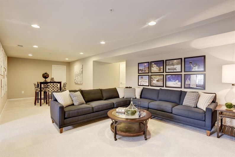 Basement and Finished Recreation Room Included with all Ranch Floorplans