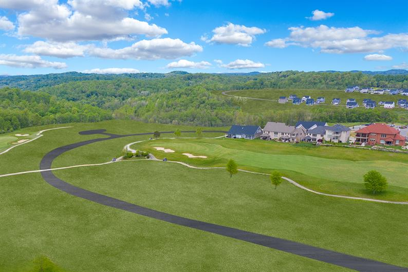 Breathtaking Wooded & Rolling Golf Course Views