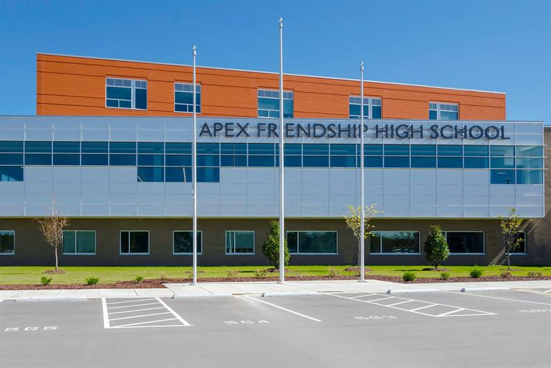 Located within Apex schools