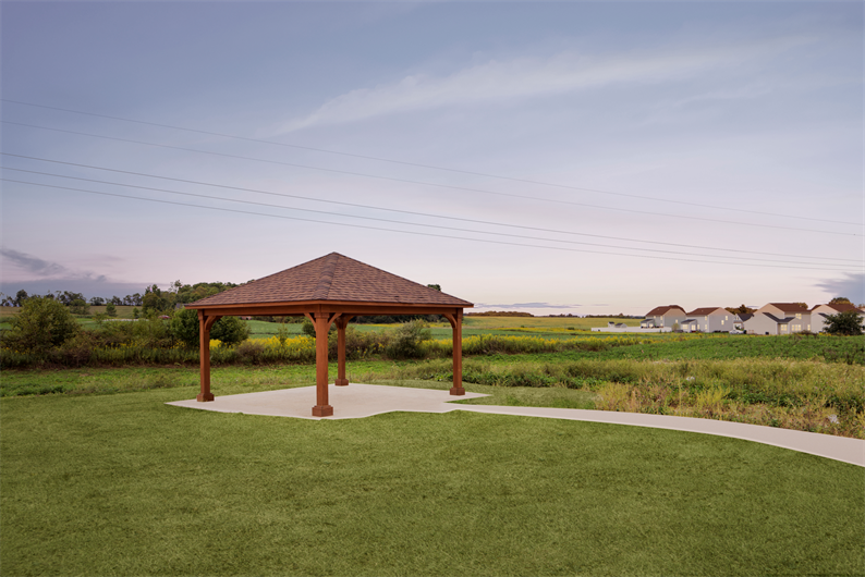 COMMUNITY GAZEBO AND WALKING TRAILS FOR YOUR DAILY DOSE OF FRESH AIR
