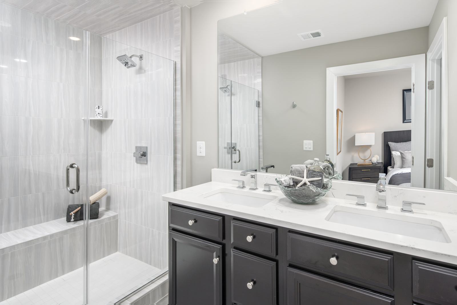 Only NVHomes includes designer finishes in our Signature Spa Bath.