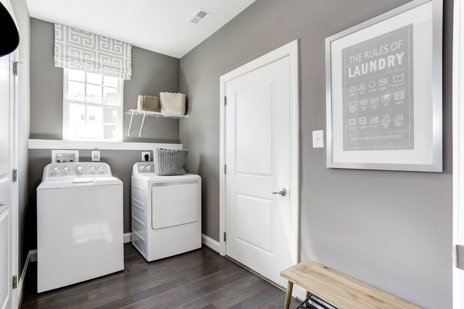 Most floorplans have a 2nd floor laundry room - your clothes begin and end their day on the second floor.