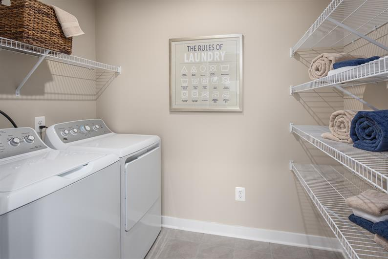 The convenience of a bedroom level laundry