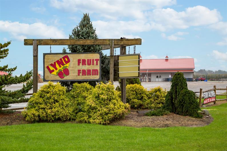 ENJOY FRESH LOCAL FOODS AT NEARBY LYND FRUIT FARM