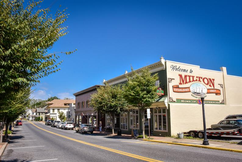 Nearby downtown Milton has plenty to offer.