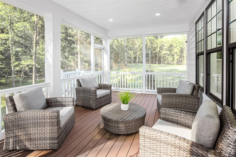 Covered and Screened Porches Available