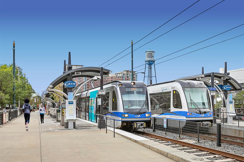 Walk to the Light Rail for Easy Access to Charlotte