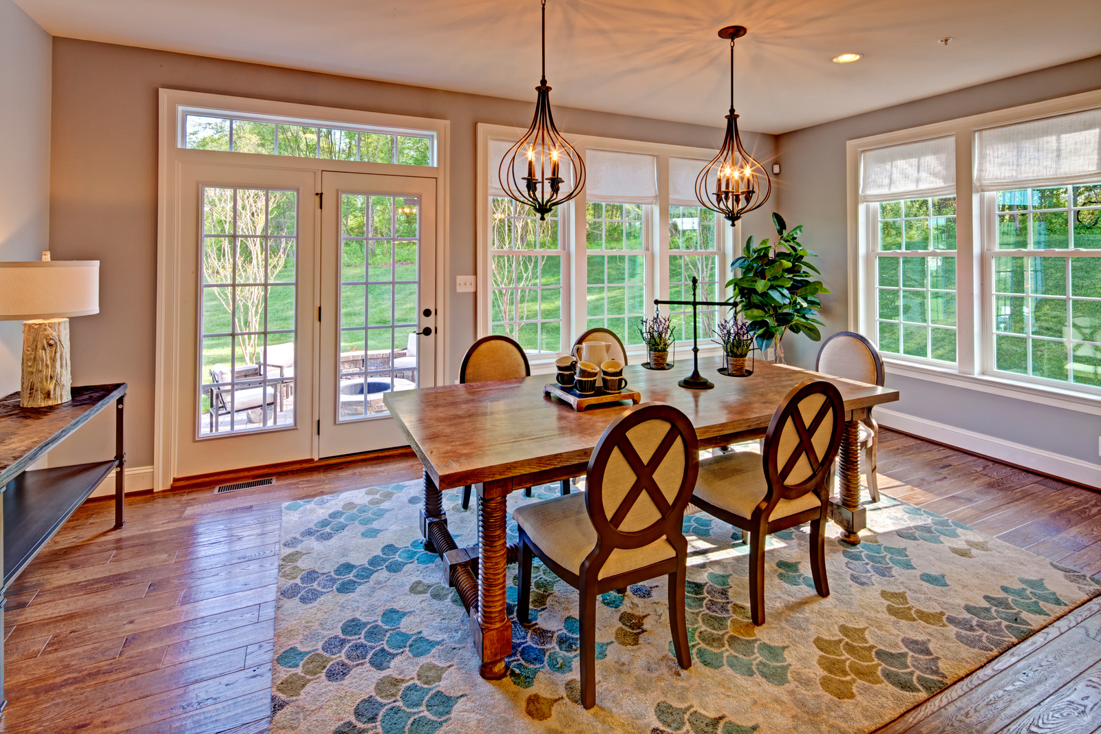The formal Dining Room is a wonderful place to entertain friends and family for holidays and events.