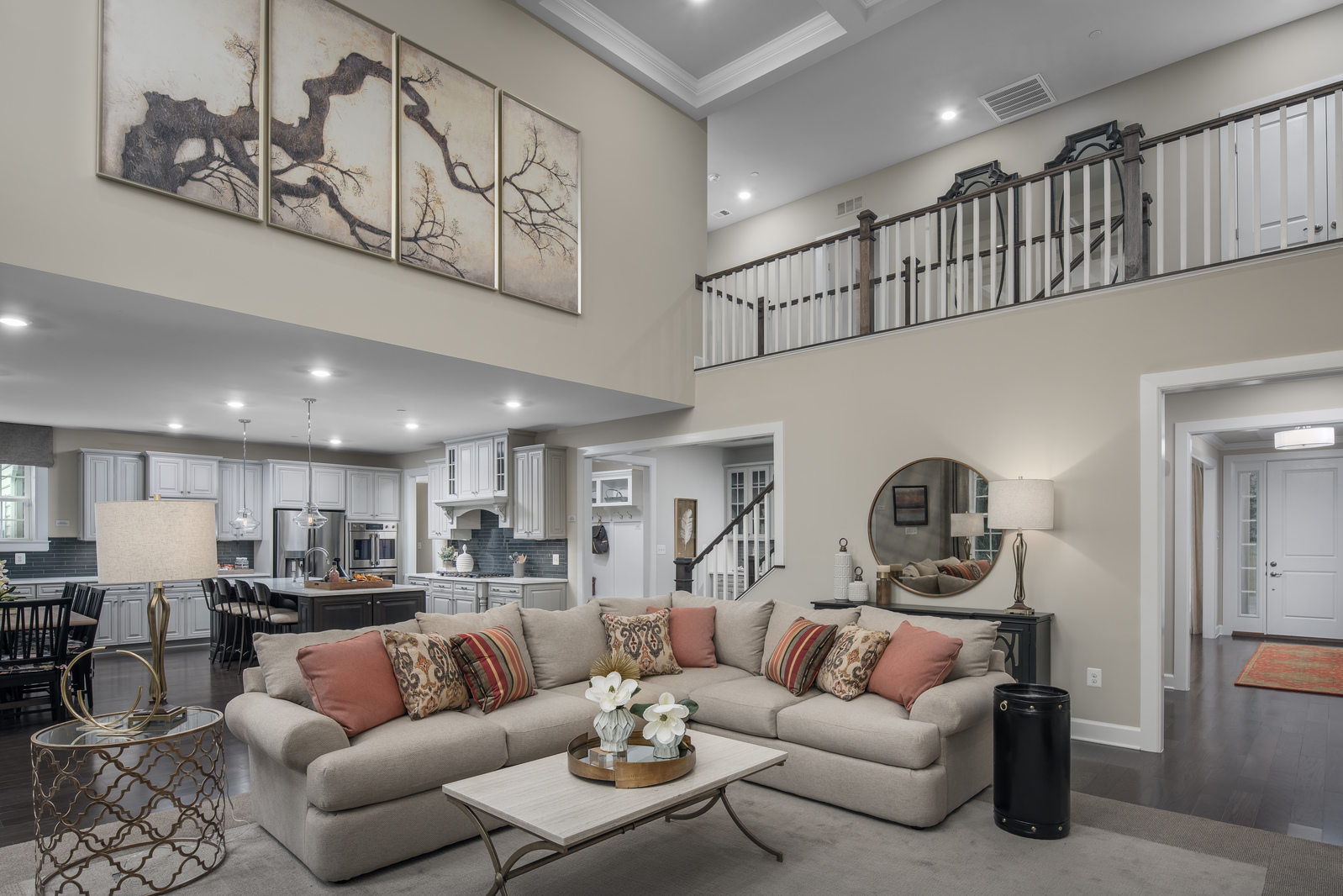 You'll love the added drama of soaring ceilings in your 2-story great room.